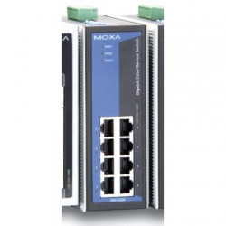 Moxa Group - EDS-G308-T - Industrial 8xGigE Unmanaged Switch, WT