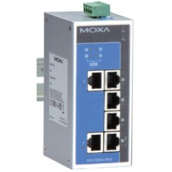 Moxa Group - EDS-P206A-4POE-T - 4 PoE 10/100BT, 2 10/100BT Unmanaged Switch WT