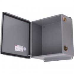 Hoffman Enclosures - A-1212CH - 12Hx12Wx 6D Hinged Cover Junction Box