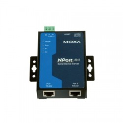 Moxa Group - NPORT 5210 - 2 Port 10/100M Ethernet RS-232 Device Server