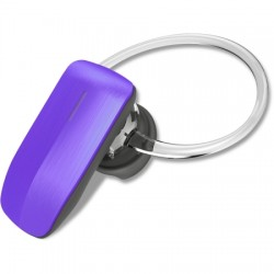 AlphaComm - C-BT245-PUR - Color Burst Mini Bluetooth Headset in Purple