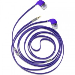AlphaComm - C-EP909-PUR - Color Burst In-Ear Headphones in Purple