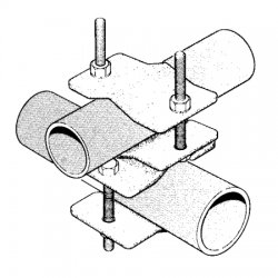 Sinclair - CLAMP017S - 90 Degree Pipe-Pipe Clamp