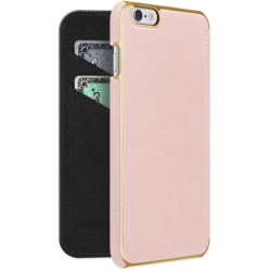 Adopted - APH13228 - Leather Folio Case for iPhone 6s/6 Plus Blush/Gold