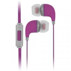 AlphaComm - C-EP909-PNK - Color Burst In-Ear Headphones in Pink Pop