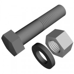 Rohn Products - 210032GAW - Bolt 5/8x2-1/4 Assembly