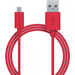 Incipio - PW-200-RED - Incipio - USB cable - Micro-USB Type B (M) to USB (M) - 3 ft - red