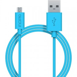 Incipio - PW-200-CYN - Incipio CHARGE/SYNC Micro USB Cable - USB - 3.28 ft - 1 x Type A Male USB - 1 x Male Micro USB - Cyan