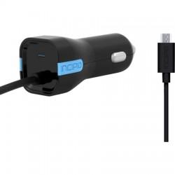 Incipio - PW-210 - Incipio 2.4A Micro-USB Car Charger - 5 V DC Output Voltage - 2.40 A Output Current
