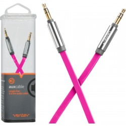 Ventev - AUXCABLEPNKVNV - aux cable 4ft. for 3.5mm Devices in Pink
