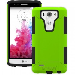 AFC Trident - AG-LGG3MN-TG000 - Trident Aegis Case for LG G3 S - Smartphone - Trident Green - Textured - High Gloss - Silicone, Polycarbonate, Thermoplastic Elastomer (TPE) - 48 Drop Height