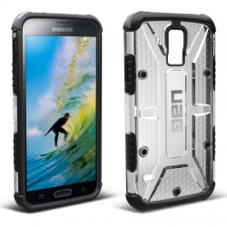 Urban Armor Gear - UAGGLXS5ICEWSCRNV - Composite Case for Samsung Galaxy S 5 in Ice