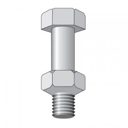 Rohn Products - 210031GA - 5/8 x 2 structural bolt