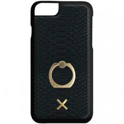 Candywirez - CS-7P-RC-CRCMBK - Ring Case for iPhone 7 Plus Matte Black Crocodile