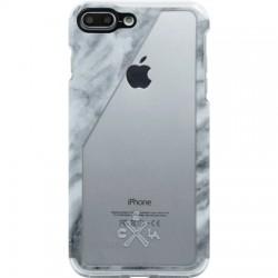 Candywirez - CS-7P-CLR-WSLT - Clear Case iPhone 7/8 Plus - White Marble Slant