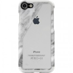 Candywirez - CS-7-CLR-WSLT - Clear Case iPhone 7 - White Marble Slant