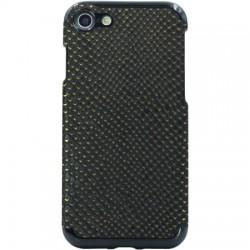 Candywirez - CS-7-CRC-BLKG - Vegan Leather Case iPhone 7/8 Crocodile Black/Gold