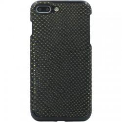Candywirez - CS-7P-CRC-BLKG - Vegan Leather iPhone 7/8 Plus Crocodile Black/Gold