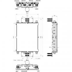 CommScope - TD-PCS-1-B3B4-B5E - Twin Inband Diplexer 1MHZ PCS B3B4-B5E, DC SENSE