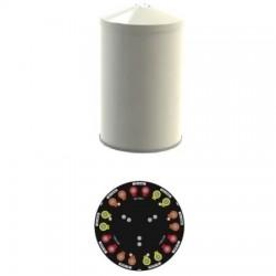 Amphenol - CUUT070X06F52S0BK - 696-960/1695-2700 Tri-Sector Cylindrical Antenna
