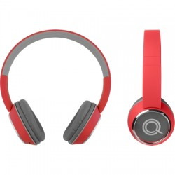 AlphaComm - C-HARMONIZE-RED - Color Burst Harmonize BT On-Ear Headphones RED
