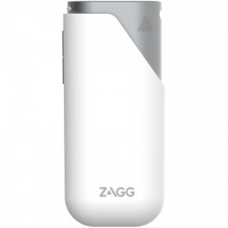 Zagg - ZGAMP3-SV0 - ZAGG Power Amp 3 Battery Power Adapter - For Mobile Phone, USB Device - Lithium Ion (Li-Ion) - 3000 mAh - 2.10 A - 5 V DC Output - 5 V DC Input - 2 x - Silver