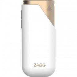 Zagg - ZGAMP3-GD0 - ZAGG Power Amp 3 Battery Power Adapter - For Mobile Phone, USB Device - Lithium Ion (Li-Ion) - 3000 mAh - 2.10 A - 5 V DC Output - 5 V DC Input - 2 x - Gold