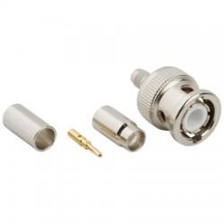 Amphenol - 031-5800 - 3-Piece BNC Crimp Plug for RG-58, RG-141, PL-58