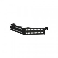 Belden / CDT - AX104601 - KeyConnect Angled Modular Keystone Patch Panel - 48 Port x 2RU - Black (Empty)