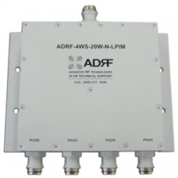 Advanced RF Technologies - ADRF-4WS-20WNLPIM - 690-2700 MHz PIM Rated 4-Way Spitter