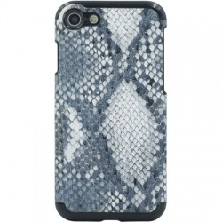 Candywirez - CS-7-SNK-GRYW - Vegan Leather Case iPhone 7 in Snake Grey/White