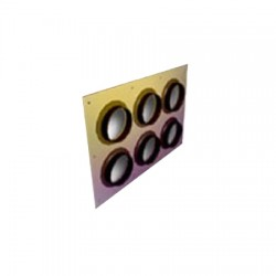 RFS - FTP4-1X3 - Feed Through Entry Panel 4, 3 Holes, 1x3