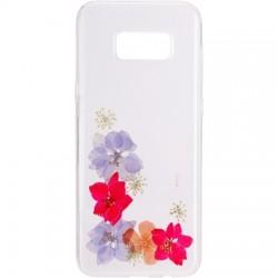 Flavr - 28686 - FLAVR iPlate Real Flower Amelia Samsung Galaxy S8+