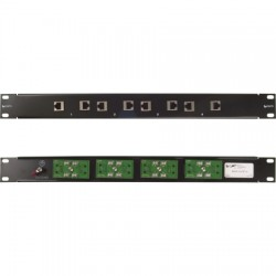 L-Com Global Connectivity - RMSP-CAT6T-4 - 19 Rack Mount 4-Port 10/100/1000 Base-T Gas Tube CAT6 Lightning Protector - RJ45