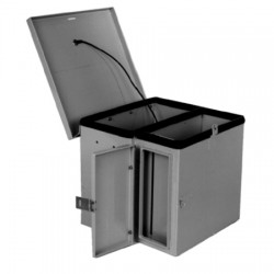 Ventev - V14126KO-ODO4S-HC - 14x12x6 H/C Enclosure. Solid Door/Key, 4S ODO