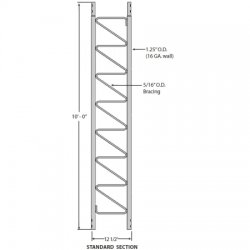 Rohn Products - 25G - Standard 10-ft Tower Section for Model 25G Tower
