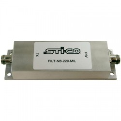 STI-CO Industries - FILT-NB-220-MILMF - 216-222 MHz Rugged Preselector Filter