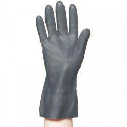 Ventev - 8A813 - Large Black Neoprene Chemical Resistant Gloves