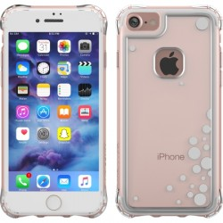 Ballistic Case - JE1738-B47N - Jewel Essence Case iPhone 7 Dancing Bubbles Silver
