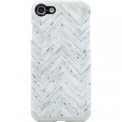 Candywirez - CS-7-SNP-WWCV - Wood Case for iPhone 7 in White Wood Chevron