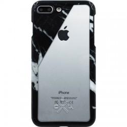 Candywirez - CS-7P-CLR-BSLT - Clear Case iPhone 7/8 Plus - Black Marble Slant
