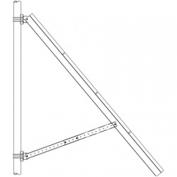 Ameresco Solar - SR-SPR4-T14AM190J - Side of Pole Mount; 4 Sch. 40 / (4) 175J to 200J