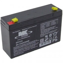 DuraComm - B-6V-12A - 6V, 12Ah Lead Acid Rechargeable Battery