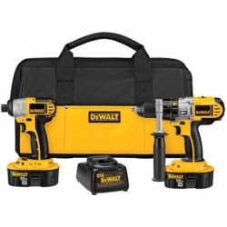 Dewalt - DCK255X - DeWALT XRP 18 V Ni-Cad 450/1500/2000 RPM 2900 SPM Cordless Hammer Drill/Imapct Driver Combination Kit (Includes 1 Hour Nicd/Nimh/Li-Ion Charger, (2) 18V XRP Batteries, 360 Side Handle, DCD950 Xrp 1/2' 18V Hammer drill/Drill/Driver,