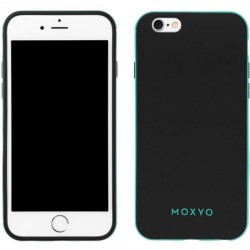 Moxyo - M1GBM-API60-9B0 - Ginza Case for Apple iPhone 6/6s in Black/Mint
