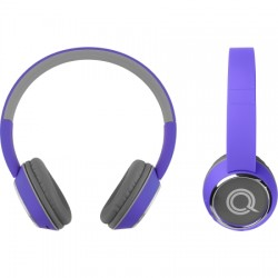 AlphaComm - C-HARMONIZE-PUR - Color Burst Harmonize BT On-Ear Headphones PURP