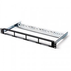 CommScope - 1-1671594-2 - 19 UCP Unloaded Patch Panel w/4 Quick-Fit Cutouts