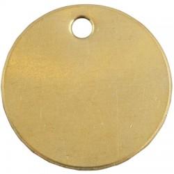 Ventev - 42857 - Blank Brass Tag 1-1/2 x 1-1/2