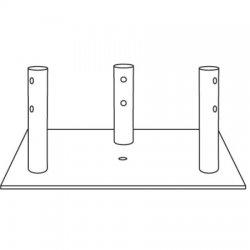 Rohn Products - BPC55G - 55G Concrete Base Plate