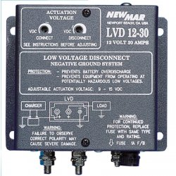 NewMar - LVD-12-75 - 12 VDC 75 Amps Low Voltage Disconnect (Negative Ground)